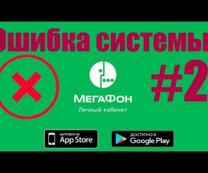 Мегафон: внутренняя ошибка системы #2 что означает?